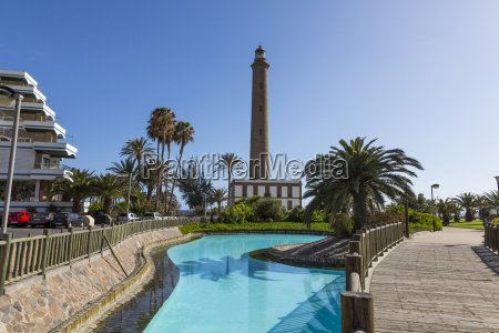 spain view of lighthouse at maspalomas
