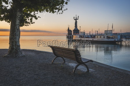germany constance bench facing the harbour