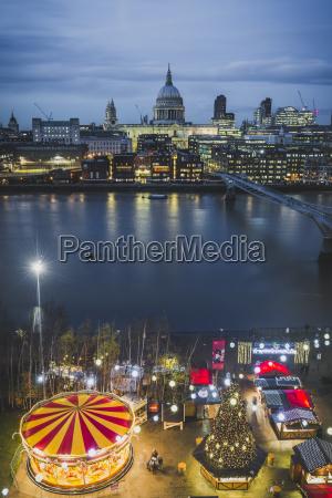 united kingdom england london christmas market
