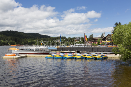 germany baden wuerttemberg view of titisee