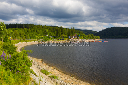 germany baden wuerttemberg view of schluchsee