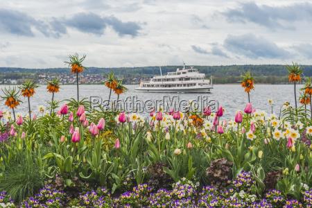 deutschland ueberlingen uberling see touristenboot im