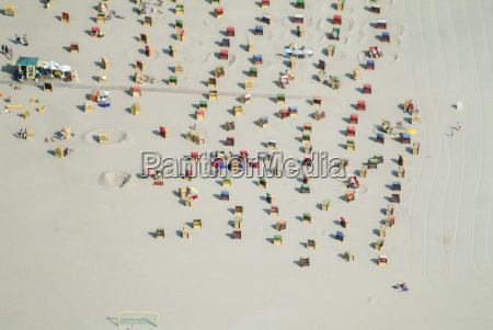 germany luebeck priwall aerial view beach