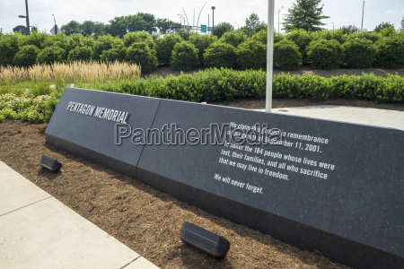 usa virginia ansicht des pentagon memorial