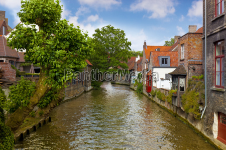 belgium bruges old town town canal