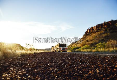 australien western australia truck auf der