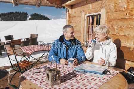 germany bavaria winklmoosalm mature couple on