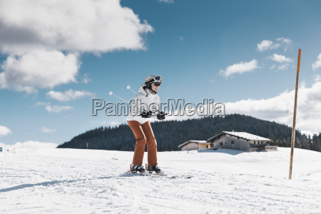 germany bavaria winklmoosalm mature woman skiing