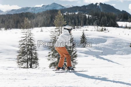 germany bavaria winklmoosalm mature woman skiing