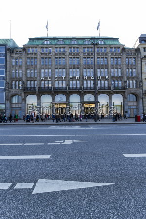 germany hamburg department store alsterhaus at