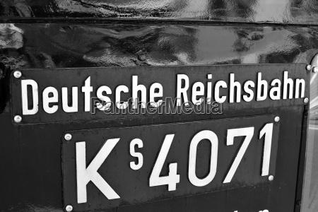 germany hesse sign of deutsche reichsbahn