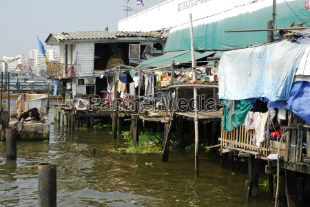 thailand bangkok arme wohnung am chao