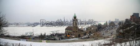 germany hamburg panoramic view of the