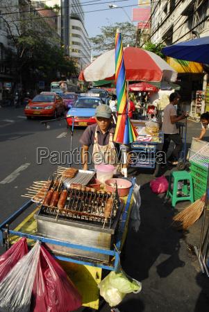 thailand bangkok street market at ratchawong