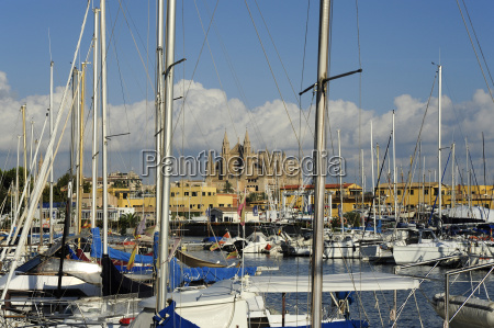 spain palma sailing boats in harbour