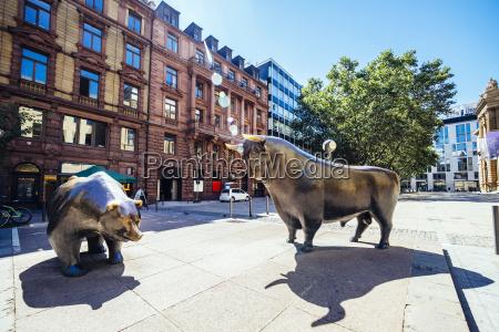 germany frankfurt bull and bear bronze
