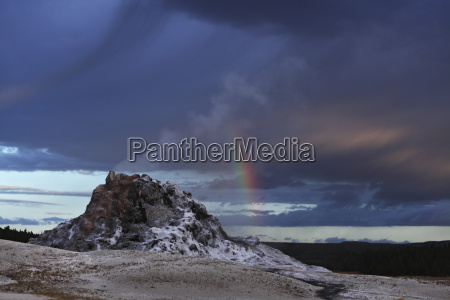 view of white dome geyser at