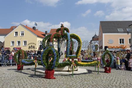 germany upper bavaria koesching spring market