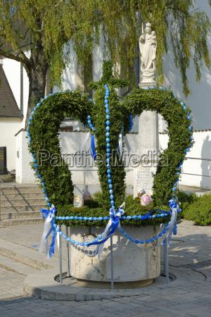 germany upper bavaria egweil easter fountain
