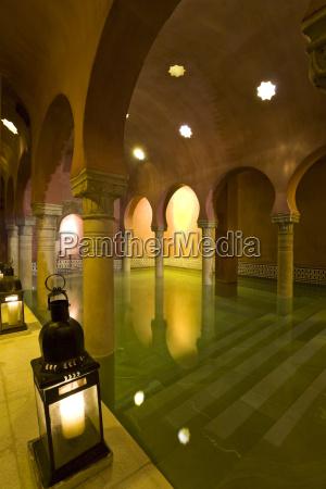 spain andalusia view arabian bath and