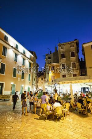 croatia people in old town of