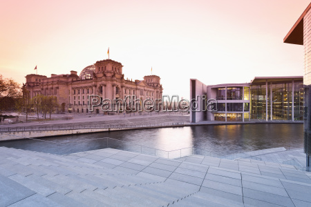 germany berlin view of reichstag parliament