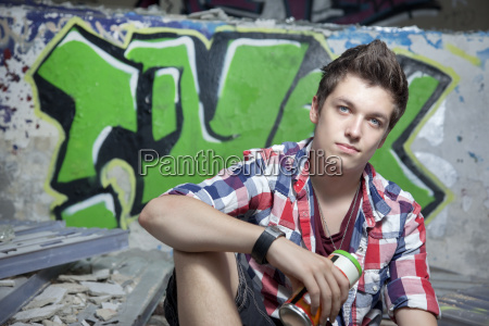 germany berlin teenager with a spray