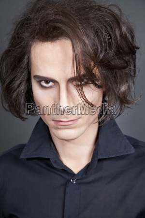 portraet des menschen mit make up