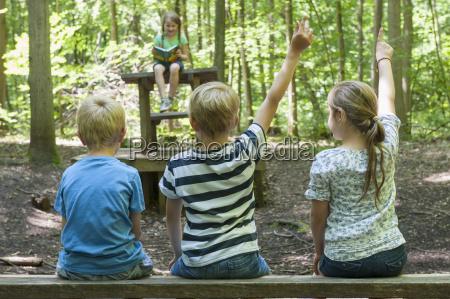 germany bavaria munich friends playing school