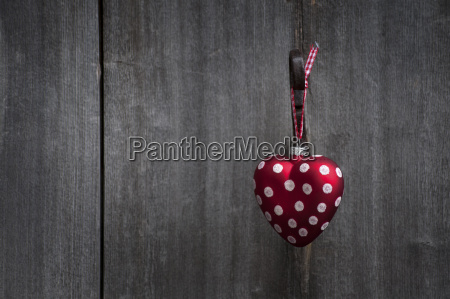 heart shaped christmas bauble hanging on