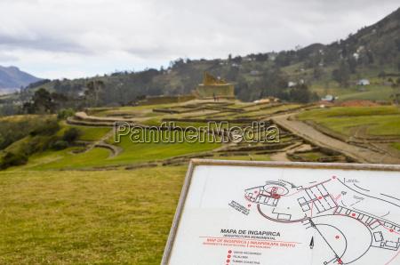 ecuador quito ansicht der beruehmten incan