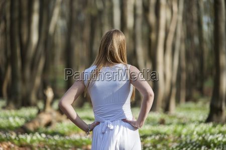 germany rhineland palatinate young woman enjoying