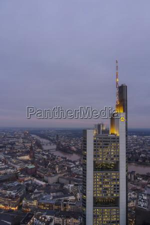 deutschland hessen frankfurt commerzbank tower am