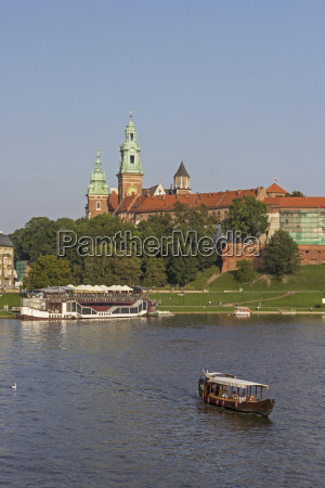 poland krakow view to wawel cathedral