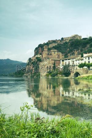 spain miravet fortress above river ebro