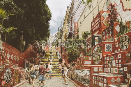 brazil rio de janeiro selaron steps