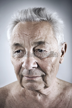 portrait of senior man looking away