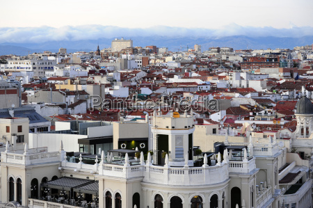 spain madrid historic city center view
