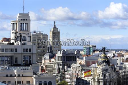 hiszpania madryt historyczne centrum miasta circulo