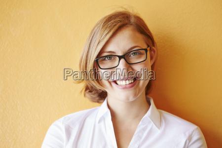 businesswoman smiling portrait
