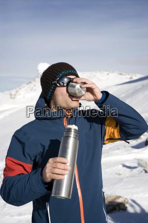 austria man drinking tea