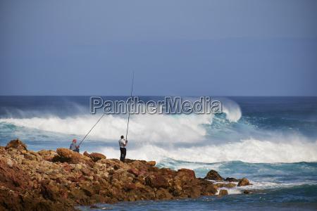 portugal algarve sagres two angler at