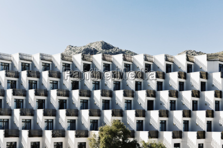 spain baleares mallorca apartment building with