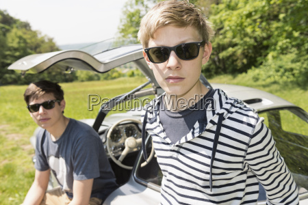 germany two boys wearing sunglasses