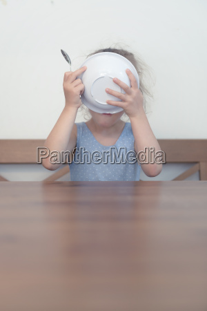 germany young girl eating up