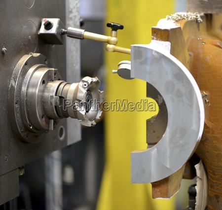 germany cnc machine close up