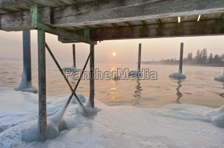 germany jetty and mooring post with