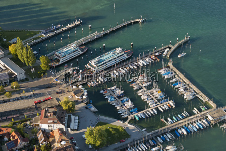 germany constance view of ferry harbour
