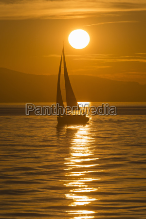 germany view of sailing boat in