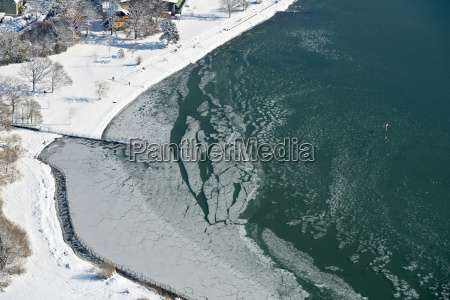 germany view of ice floes at